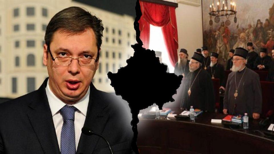 Vučić vređa SPC jer je i SPC protiv njegove politike predaje Kosmeta