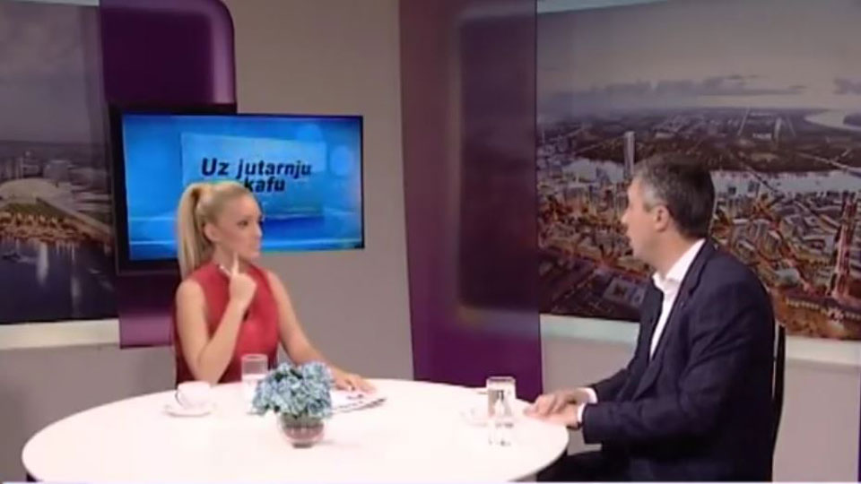 Boško Obradović na jutarnjoj kafi na TV Naša