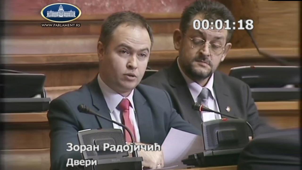 Radojičić: Da li ste isključili pola poslanika Dveri zbog Kosmeta, mafije i Željka Mitrovića?