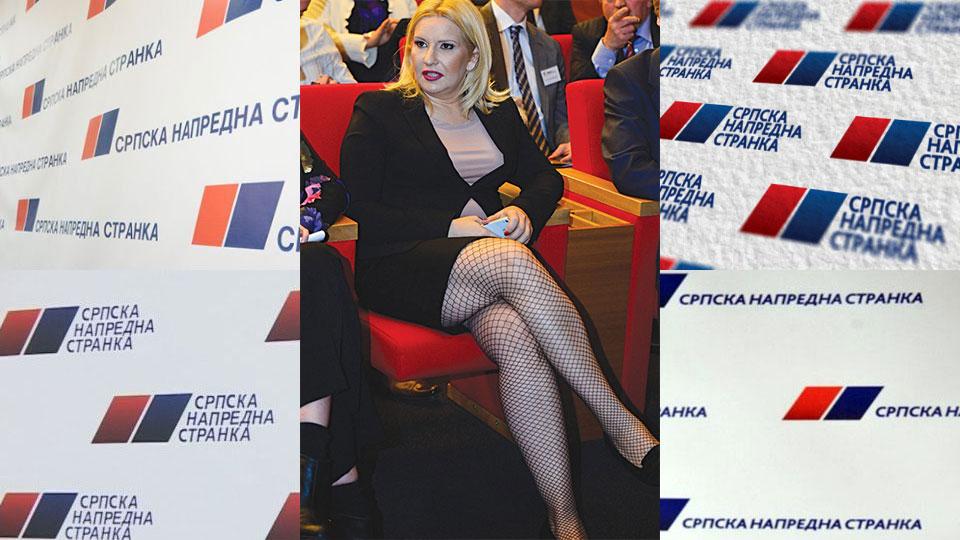 Zorana Mihajlović je promoter stranke u kojoj žene kleče