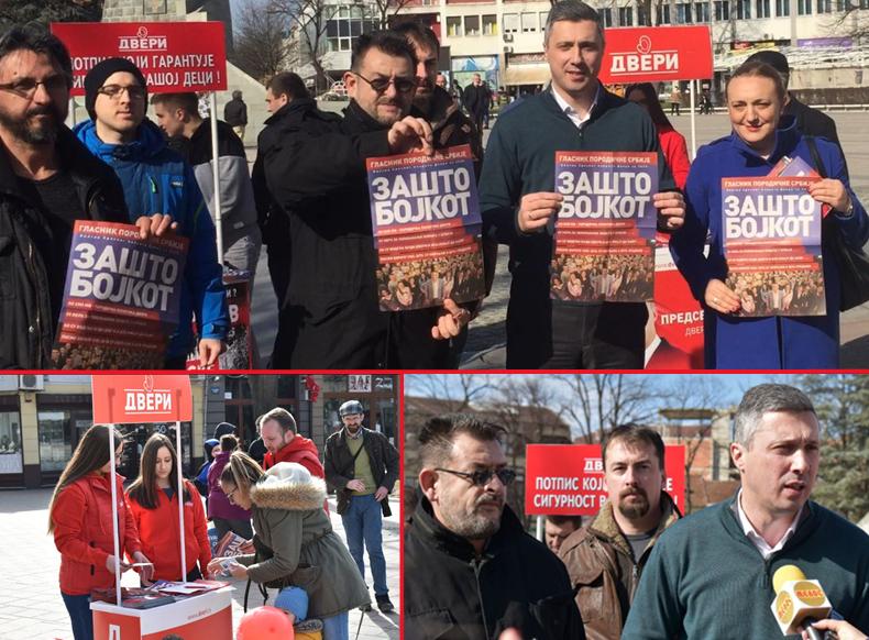 Бојкотом до слободних и поштених избора: Промотивни караван Српског покрета Двери данас посетио Краљево