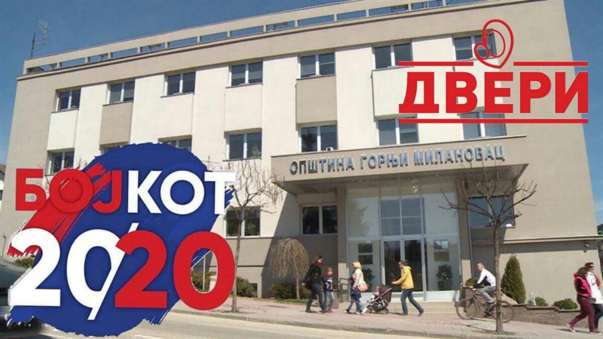 Двери Горњи Милановац: Бојкот да би се променио систем!