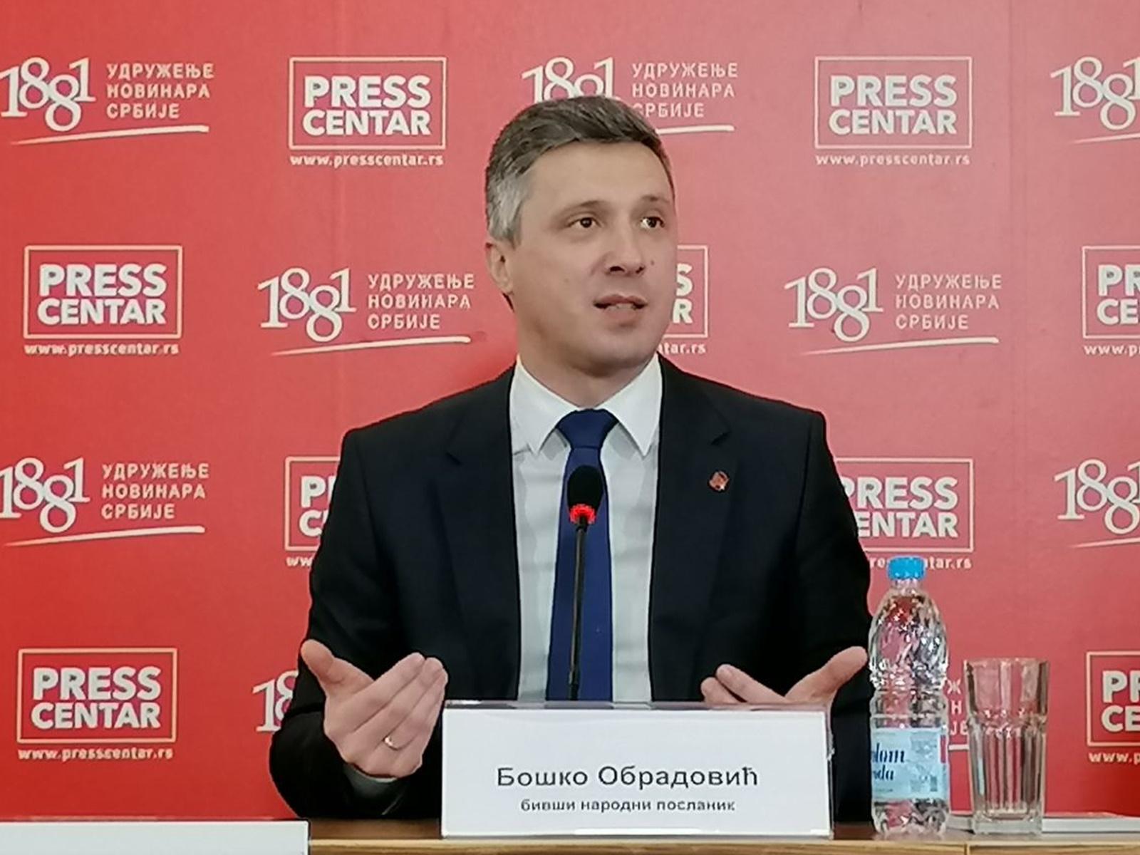 Опозиција хитномора да покаже одговорност –Одговор Бошка Обрадовића на једино новинарско питање на јучерашњој конференцији за медије